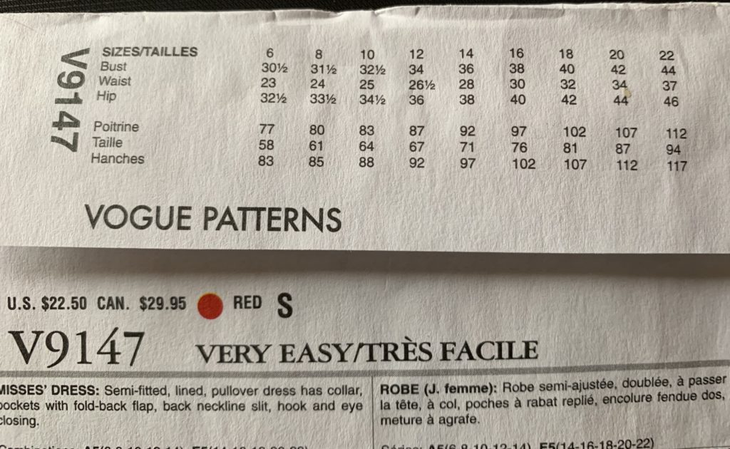 How To Read The Back Of A Sewing Pattern Envelope